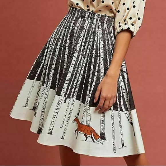 4af6201379 Anthropologie Skirts | Corey Lynn Calter Winter Fox Skirt | Poshmark